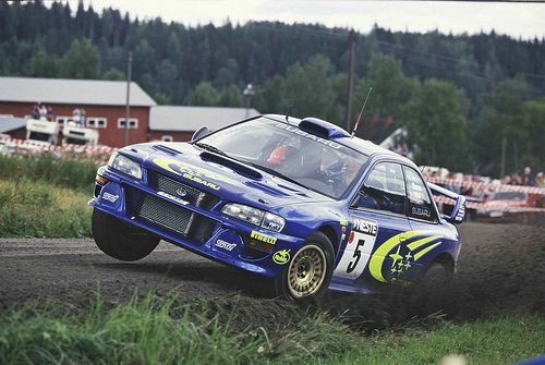 Subaru Impreza WRC99 of Richard Burns at 1999 Rally Finland