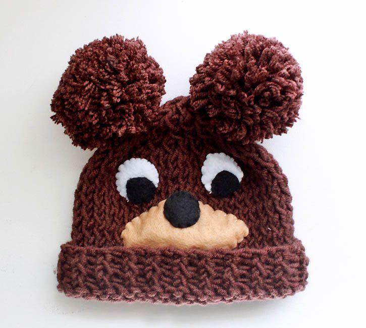 Gina Michele: Baby Bear Hat [knitting pattern]