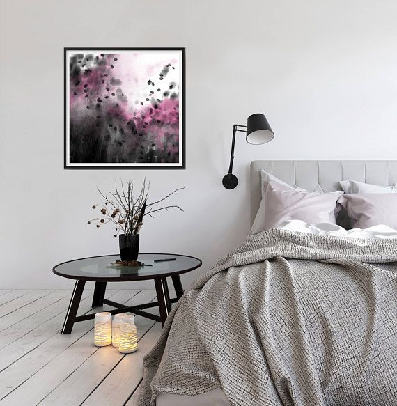 Dessin art abstrait peinture crayon rose noir gris