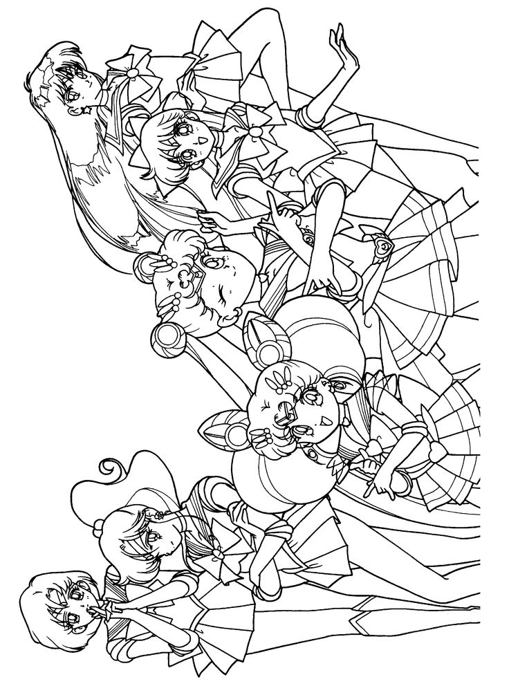 48 best Sailor Moon Lineart amp Coloring