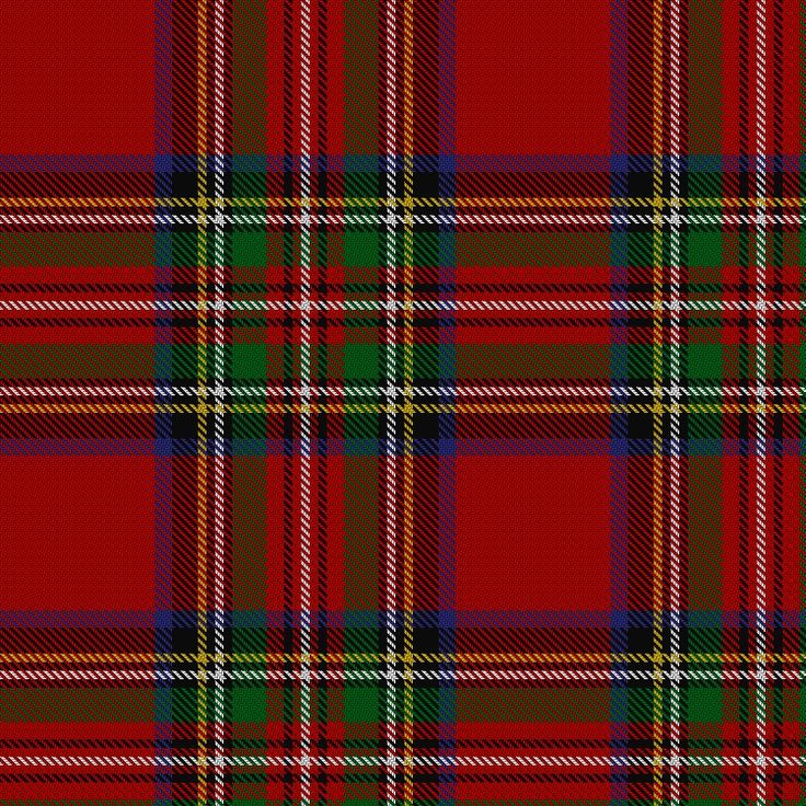 Stewart/Stuart Royal #2 Tartan.  Information from The Scottish Register of Tartans.
