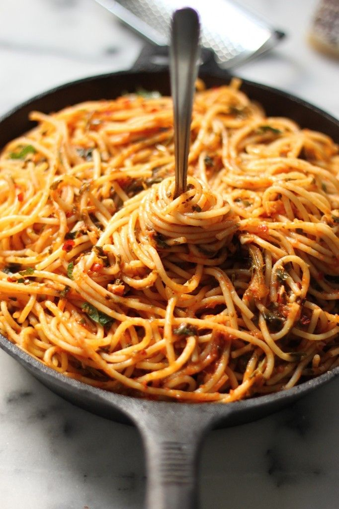 Simple Spaghetti Fra Diavolo - This is our all time favorite quick dinner!