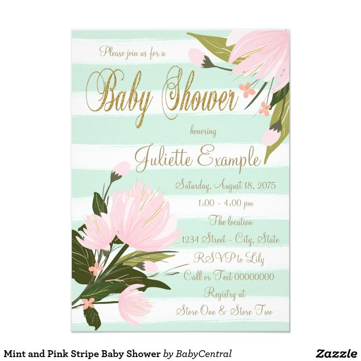holidays and events mint green pink baby showers and baby showers