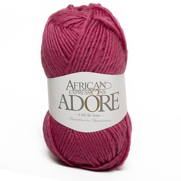Colour Adore Dark Pink, Chunky weight,  African expressions 8296, knitting yarn, knitting wool, crochet yarn, kid mohair yarn, merino wool, natural fibres yarn.
