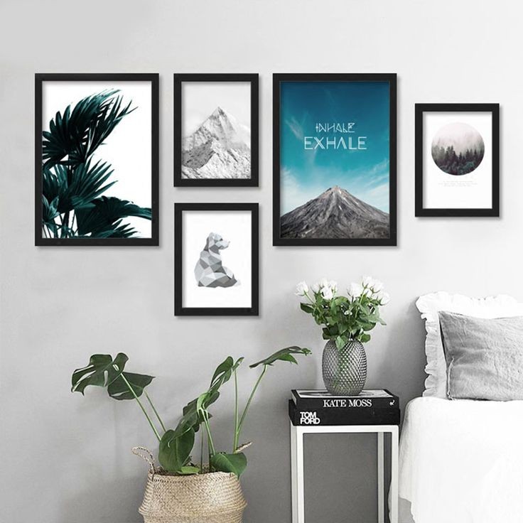 Cheap picture for living room, Buy Quality wall pictures directly from China posters and prints Suppliers: Posters And Prints Wall Art Canvas Painting Cuadros Beach Pictures Forest Wall Pictures For Living Room Nordic No Poster Frame