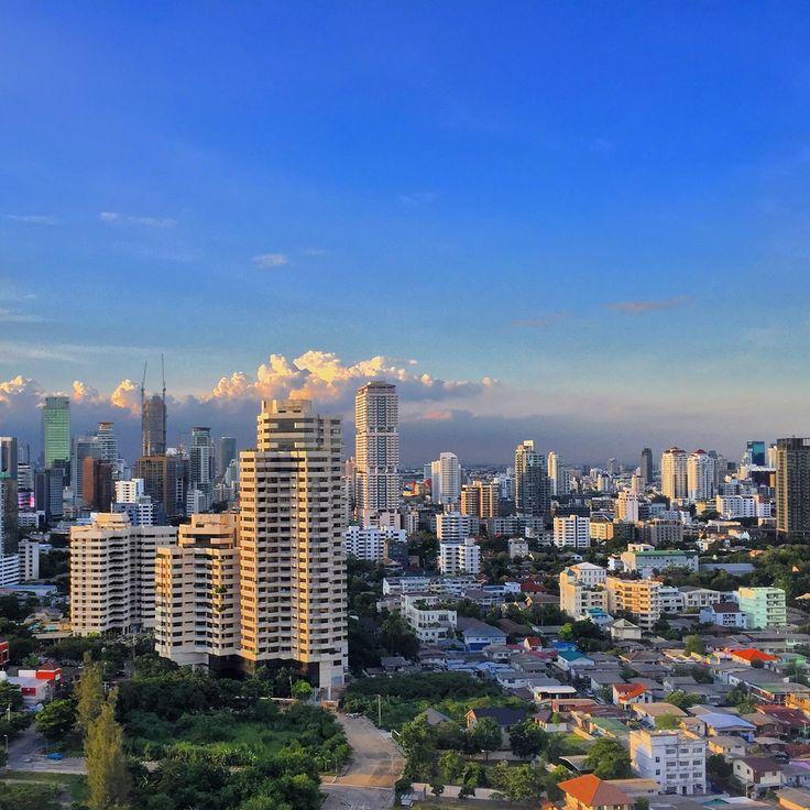 Bangkok skyline view from my office 23rd floor. Rama 4, Bangkok