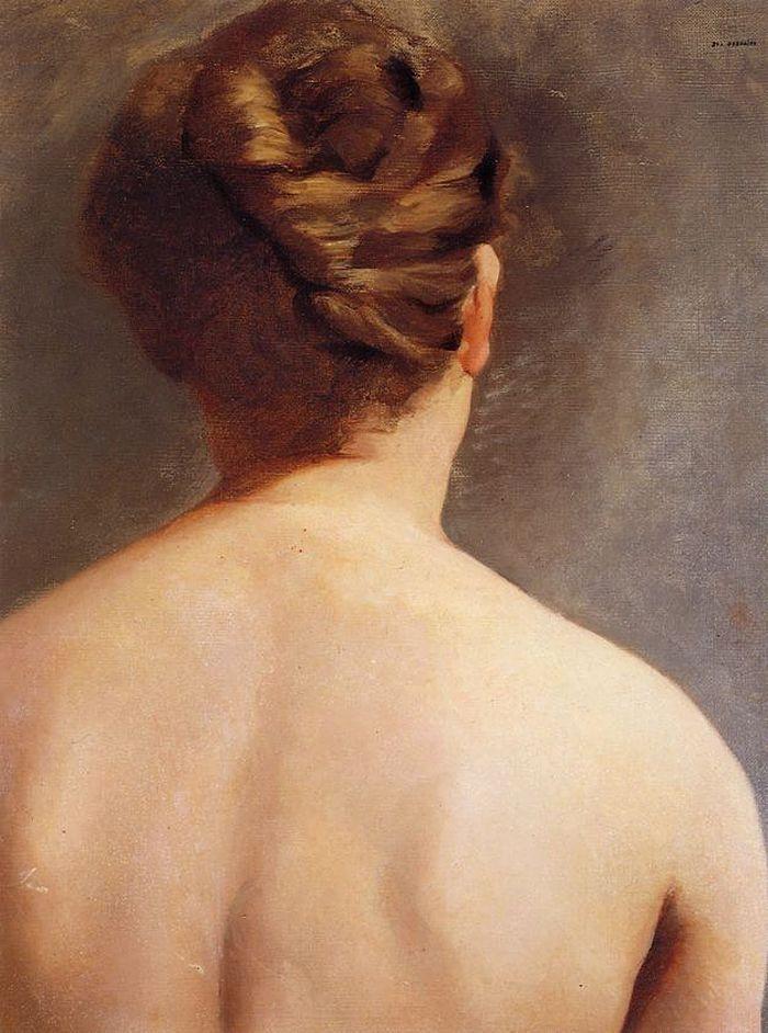 Le Chignon (The Bun) -  Eva Gonzalès 1865-70  French 1849-1883