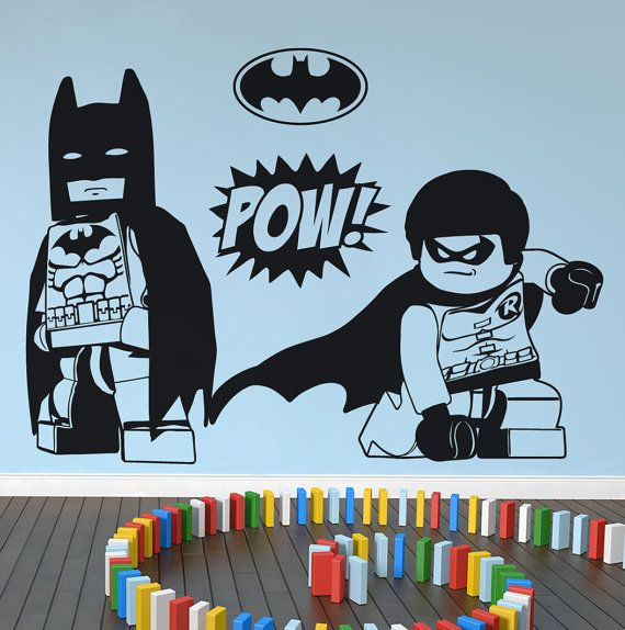 LEGO Batman & Robin wall art wall stickers by NSVINYLS on Etsy, £17.99