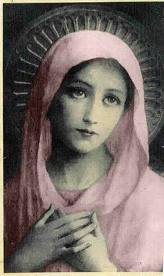 Blessed Virgin Mary..pretty in pink:-)