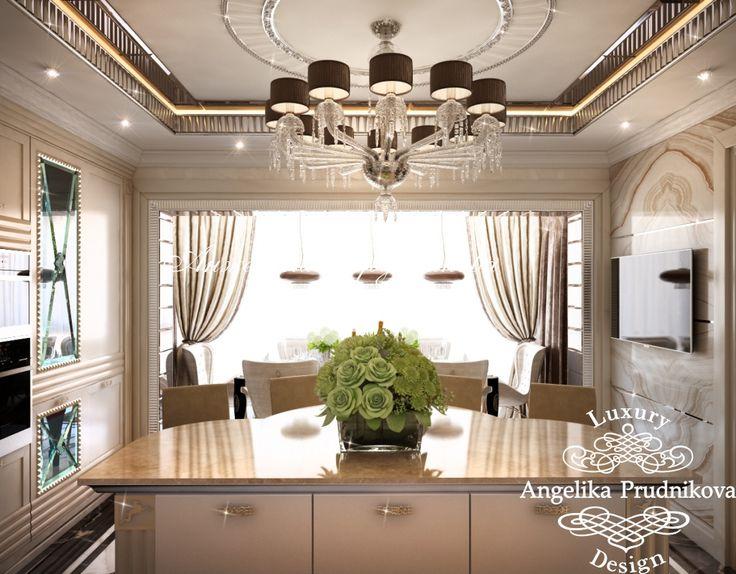 Интерьер кухни и столовой в стиле Арт-Деко - Дизайн квартир