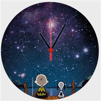 Uzay Boşluğu Snoopy Kendin Tasarla - Duvar Saati 27cm
