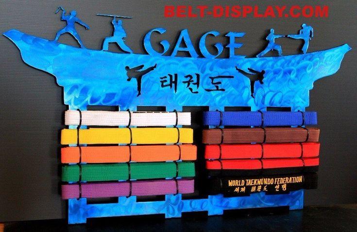 Tae Kwon Do Belt Display Rack #10-belt-display #belt-displays #jujitsu #karate #karate-belt-display-rack #martial-arts-belt-display #martial-arts-belt-holder #personalized #taekwondo #taekwondo-belt-display-tkd-belt-display-karate #tang-soo-do
