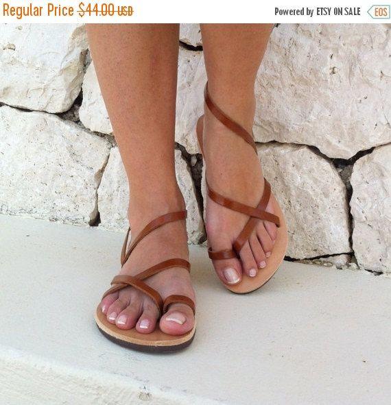 OP verkoop vrouwen sandalen riem sandaal bruine door GrecianSandals