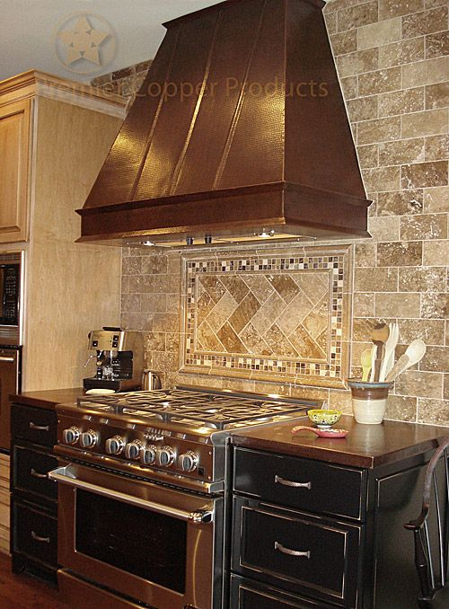 Premier Copper Products Stunning Copper Range Hood Also