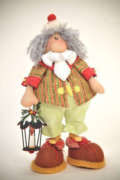 muñeco 2: papa noel con lampara
