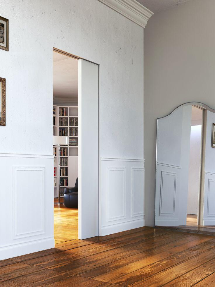 POCKET SLIDING DOOR L'INVISIBILE® SCORREVOLE CENTRO PARETE BY L'INVISIBILE BY PORTARREDO