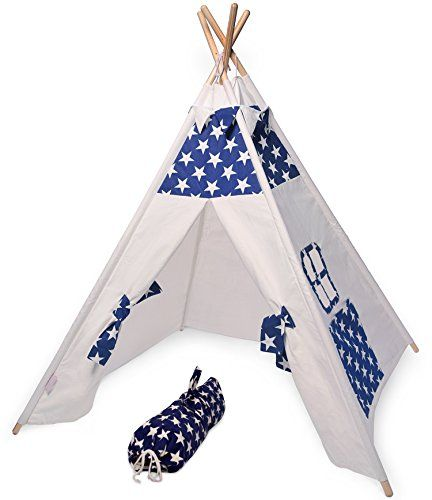 Teepee Play Tent for KIDS by OffSpringInspired |Premium Quality indoor Kid tents, 100% Cotton Canvas Material and 4.5 Feet height - $99.95