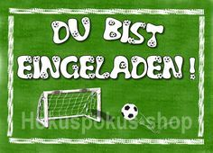 8 Einladungskarten Kindergeburtstag FUßBALL Kinder Einladungen Geburtstag Jungen in Möbel & Wohnen, Feste & Besondere Anlässe, Karten & Schreibwaren | eBay