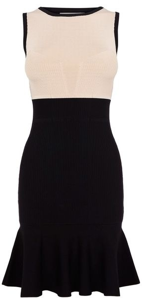 KAREN MILLEN ENGLAND Colourblock Knit Dress