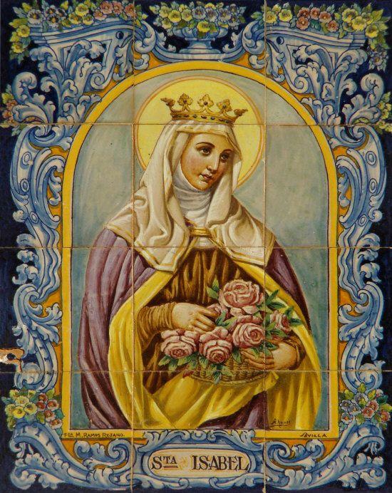 Rainha Santa Isabel de Portugal- Milagros das Flores