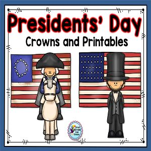 Presidents Day Crown and Printables from First Grade Fun Times on TeachersNotebook.com - (30 pages) - Presidents' Day; Presidents' Day Crowns; Presidents' Day printable readers; Presidents' Day Math; Presidents' Day Reading