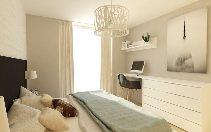 Návrh spálne v štýle New York. Interiérový dizajn od Kivvi architects. Master bedroom interior design by www.kivvi.sk