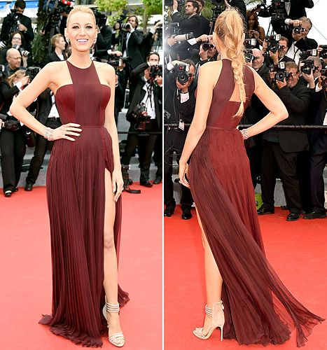Blake Lively owns the red carpet in Gucci at Cannes on May 14