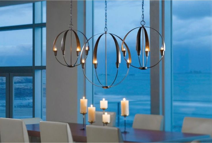 Bold globe chandelier from Pego Lamps. #luxeFL