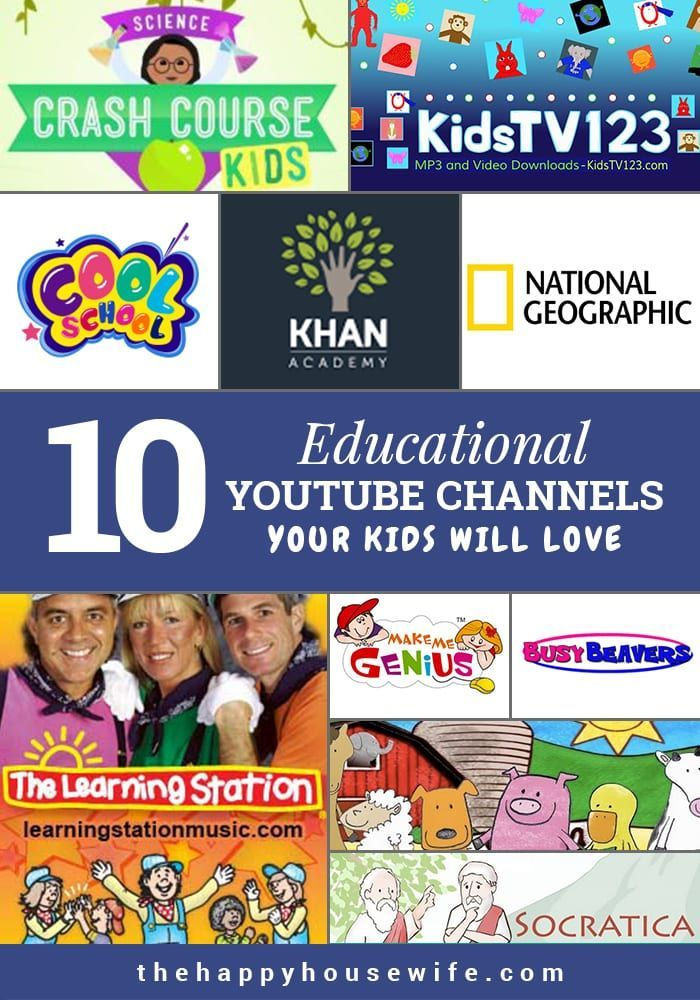 Educational Youtube Channels For Kids With Images Educational
