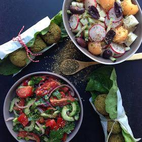 Vanløse blues.....: Salater fra Mellemøsten