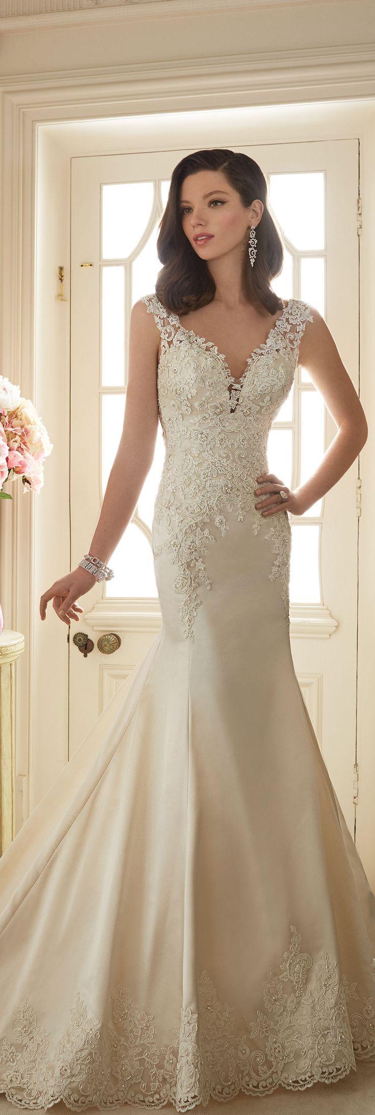 The Sophia Tolli Spring 2016 Wedding Dress Collection - Style No. Y11629 - Rexana #satinandlaceweddingdress
