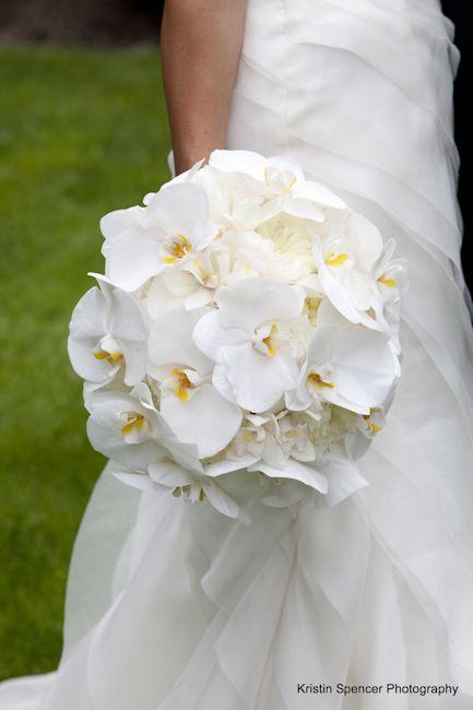 Stoneblossom Florals' White Orchid Bouquet ~ Orchids symbolize refined beauty.