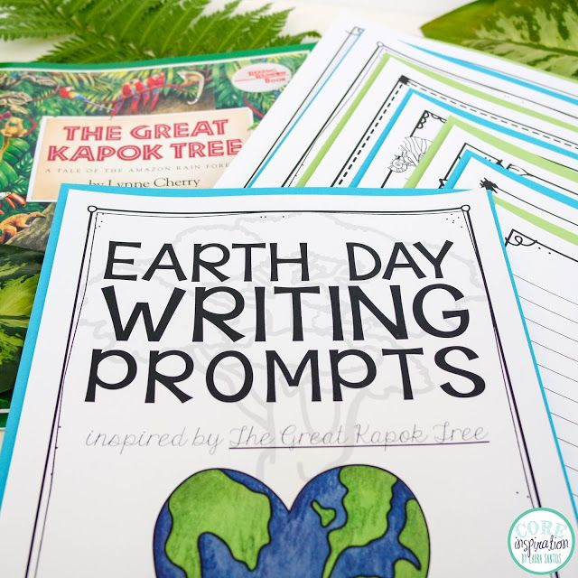 A collection of second grade writing prompts for earth