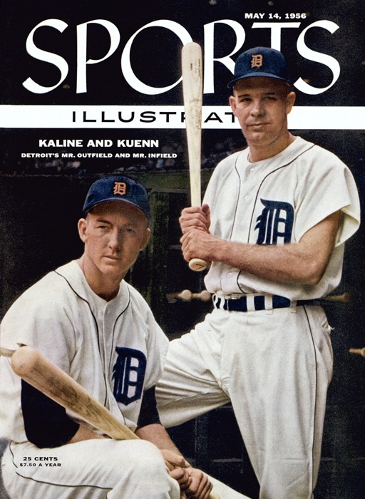 Detroit Tigers.....Kaline & Kuenn on cover of Sports illustrated, May14, 1956