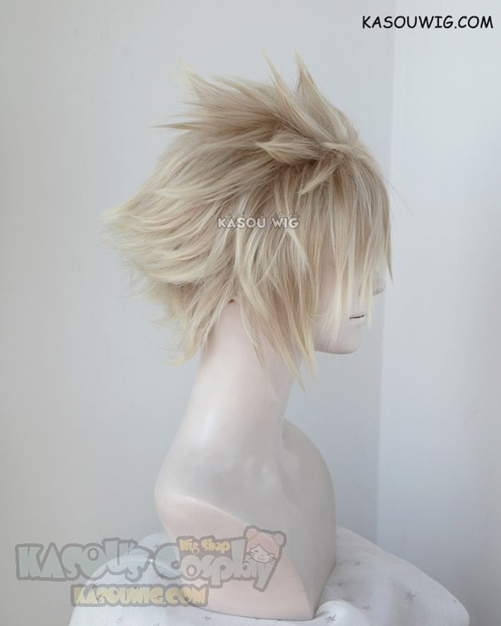 [Kasou Wig] Final Fantasy VII / FF7 Cloud Strife short blonde ombre wig with spikes