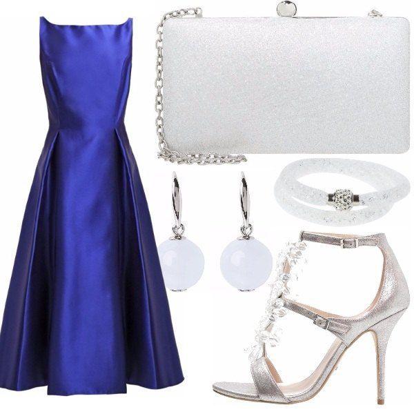 Accessori per abito blu elettrico paint