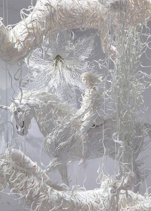 sculpture installation by Motohiko Odani