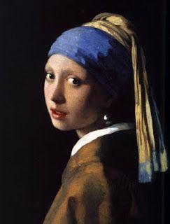 La jeune fille à la perle, Johannes Vermeer, 1665 Oil on canvas,  Mauritshuis, The Hague, Netherlands