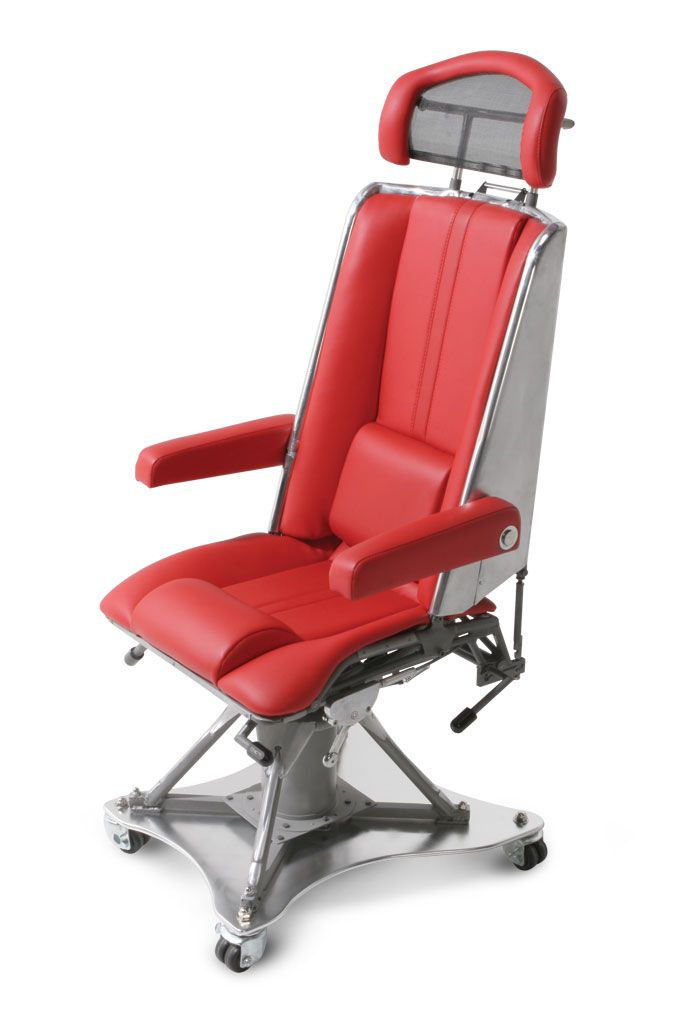 Airplane parts turned into office furniture. motoart_C-130_Navigators_chair
