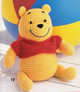 Ursinho Pooh – amigurumi | Gráficos e Receitas