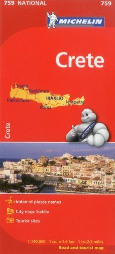 Michelin Map Crete 759 (Michelin Maps) by Michelin Travel & Lifestyle. $12.95. Publisher: Michelin Travel & Lifestyle; 2nd Edition edition (May 16, 2012). Publication: May 16, 2012. Series - Michelin Maps (Book 759)