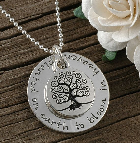 Miscarriage Necklace: Planted on earth to bloom in heaven...touching