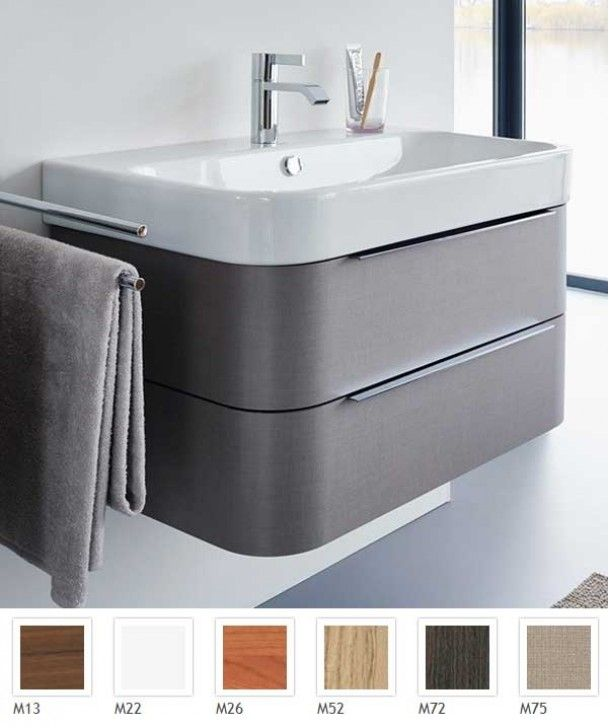 Duravit - Happy D.2 Double Drawer Unit For 800 x 505mm Basin