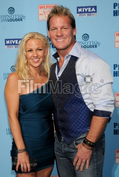 WWE Superstar Chris Jericho and his wife Jessica Irvine at a red carpet event #WWE #wwecouples