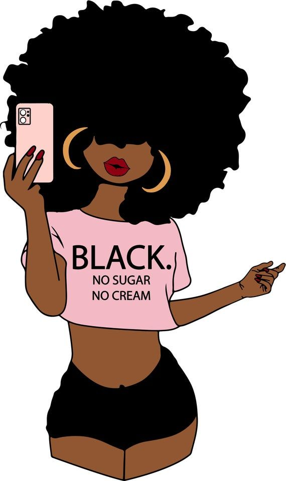 Girl afro clipart black It's A