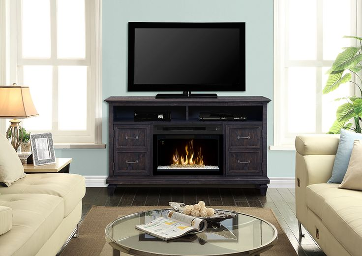 """Dimplex Solomon media cabinet with 25"""" electric #fireplace."""