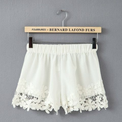 New White Lace Embellished Shorts now available at Ruby Liu! ♥ http://rubyliuboutique.com/collections/lace
