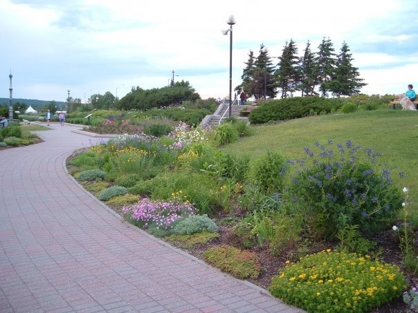 the Boardwalk at the Waterfront in North Bay, Ontario