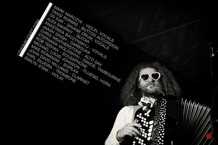 "Lemon Bucket Orkestra Concert at Moszkva Kávézó Nagyvárad (Oradea), Romania. The Lemon Bucket Orkestra is a Canadian self-described ""Balkan-Klezmer-Gypsy-Punk-Super-Party-Band"" formed in 2010 in Toronto."