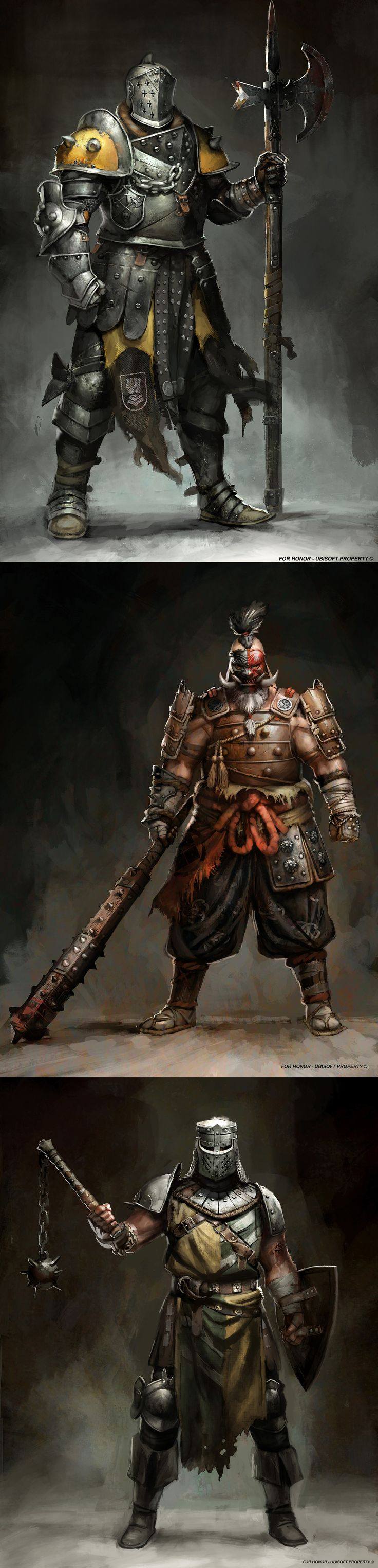 For Honor concept art by Guillaume Menuel